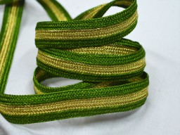 Decorative Trim Lace in Olive Green and Gold for Fashion Trim By 9 Yard Designer Sewing Lacets à broder