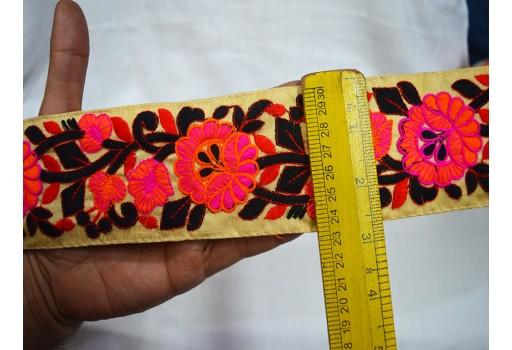 Decorative Sari Border By 9 Yard Indian Laces Embroidery Sewing Border 2.8 inch Trim Costume trim Fashion tape trim