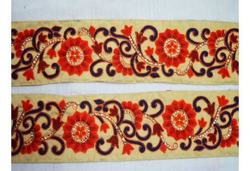 Embroidery Trim Decorative Sari Border Trim By The 9 Yard Sewing Trim Costume trim Fashion tape trim for Wedding dresses Nastri di usura del festival