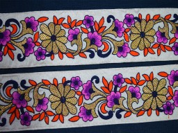 2.5 Inch wide Decorative Trim and Lace By 9 Yards  Embroidery Saree Border Sewing Fabric Trim Costume trim Fashion tape