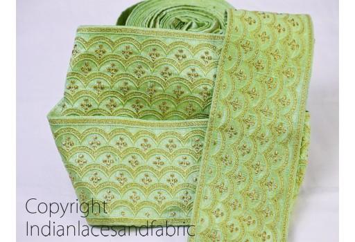 Indian Laces and Trims Ribbon Indian Sari Border gold indian trim