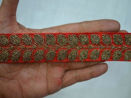 Decorative Trim Antique Copper Trim Stone Work Sari Border