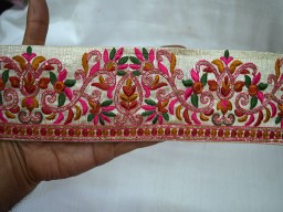 Decorative Fabric Trims Multicolor  Embroidered Ribbon