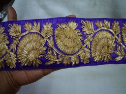 Laces Gold finish Gota Trim for Bridal dresses sari border
