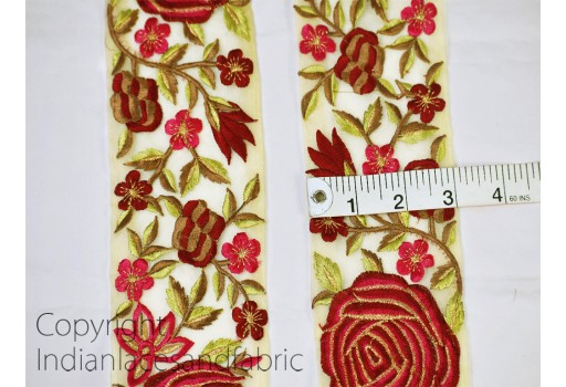 9 Yard Wholesale Maroon Fabric Trims Indian Laces Sari Border Embroidered Trim Trimming Sewing Costume Embellishments Ribbon Home Décor Christmas supplies sari tape bridal wears ribbon gown tmimming