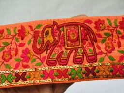 Wholesale Silk Fabric Decorative Indian Sari Border Trim By The Yard