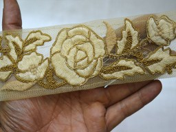 Gold Decorative Indian Trim by the yard Crafting Ribbon Trim