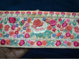 Decorative Indian Sari Border Embroidered Ribbon Trims