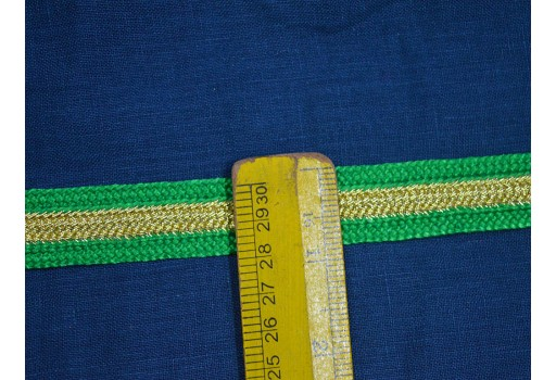 Decorative indian laces and trims light green silk sari border trimmings indian trims designer sewing lace fashion trim by 9 yard