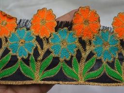 Embroidered Sewing Trim Sari Border