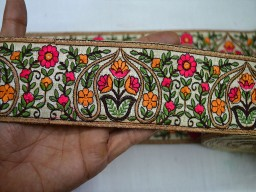Trim By The Yard Sari Border Fabric Trim Embroidered Ribbon Trims