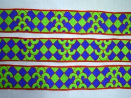 1.7 Inch wide Sari Border Sewing Trim By 9 Yard Wholesale Embroidered Trim Decorative Trims Sari Border Costume trim Fashion tape trim Clothing Accessories