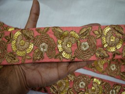 Embroidered Sewing Fabric Trim Decorative Trim Indian Sari Border