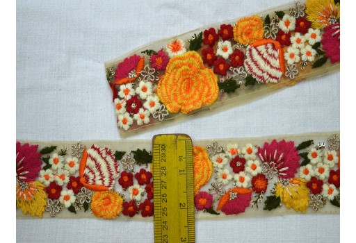 Embellishment Indian Laces Embroidered Ribbon Decorative Trims