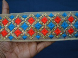 Decorative Embroidered Indian Laces and Trim