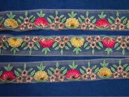 Border Fabric Trim Embellishment Indian Laces Embroidered Ribbon Decorative Trim