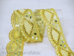 Saree Border Gold Kundan Indian Laces