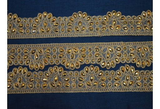 Decorative Costume Metallic Indian beaded Trim