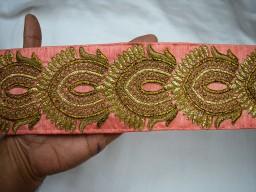 Embroidered Ribbon trim Indian Sari Border