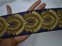 Embellishment border for your wedding dresses wholesale navy blue gold embroidery trim by 9 yard sari ribbon trimmings clothing accessories crafting sewing home decor christmas supplies fashion blogger