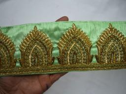 Embroidered Ribbon trim Indian Sari Border Trimmings