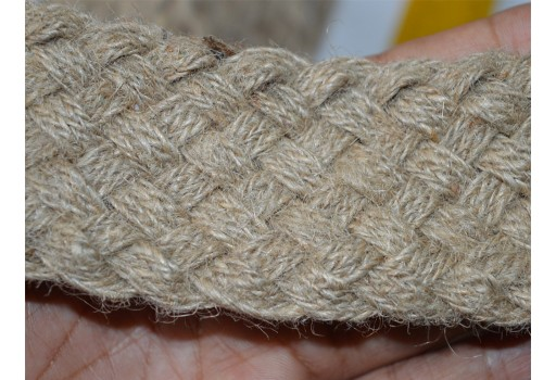 Braided burlap tape ribbon natural burlap trim by 2 yard beautiful stunning designer stylish dresses jute braid embroidery border for diy wedding