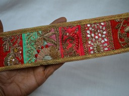 Patchwork Indian Embroidered Trim For wedding wear