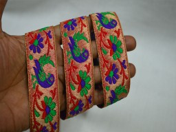 Brocade Crafting Ribbon Trimmings Indian Jacquard Sari Border