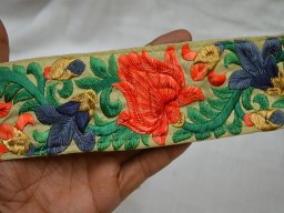 Crazy Quilting Indian Sari Border Embroidered Sewing Trim