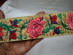 Costume Decorative Crafing Ribbon Indian Lace Trims Sari Border