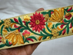 Crafting Sari Border Trim Sewing Decorative Embroidered Trimmings