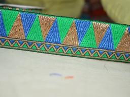 Metallic gold weaving silk sari border royal blue jacquard trim by 4 yard beautiful stunning festive mood ribbon costume sewing designer brocade trimming for dresses