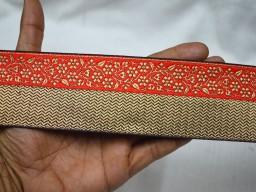 Jacquard designer trim by 3 yard crafting ribbon designing stylish wedding wear costume fashion tape trimmings