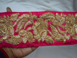 Magenta Crafting Trim Sari Border and Embellishment Laces