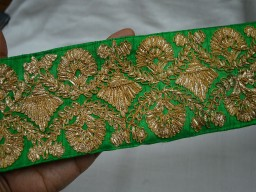 Gold finish Gota Wide Trim For Bridal Dresses