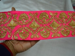 Magenta decorative trim by the yard festive mood stunning chirstmas supplies wedding dresses boarders traditional rajasthani  gota pati lace