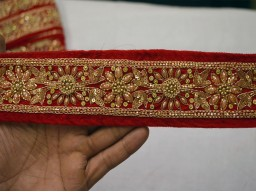 Saree border trim by the yard gold embroidered designer stylish fancy dress ribbon beautiful stunning new unique design for costume fashion tape lace