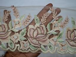 Pink Bridal Sashes Decorative Crafting Sewing Border For Dress