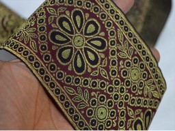 Gold Brocade Border Extra wide Indian Border