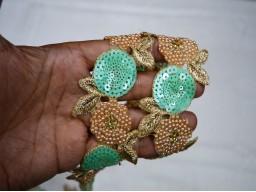 Sea Green Exclusive Decorative Indian Sari Border Trim By The Yard