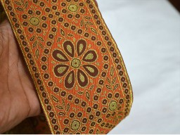 Gold Brocade Border Extra wide Indian