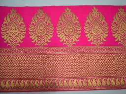 Pink Decorative Crafting Jacquard Trim By 2 Yard Jacquard Border Lace