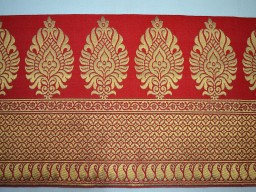 Red Decorative Crafting Jacquard Trim By 2 Yard Indian Sewing Lace