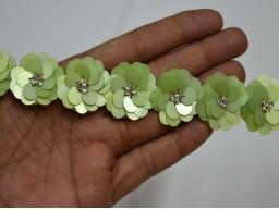 Pistachio Handmade Wedding Dress tapes Bridal Belt Sashes Decorative Crafting Sari Border BY Yard
