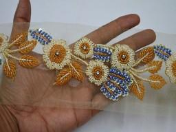 Wedding Dress ribbon Bridal Belt Sashes Indian Laces Costume Crafting Sewing Sari Border