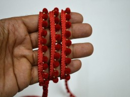Red Fringe Trim Wholesale Velvet Beaded Sewing Trim by 9 yard Beaded Lace Trim Taes and trim decorative trim for curtains Crafting Beaded lace