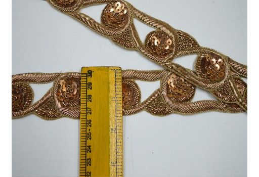 Sari border indian laces costume wedding dress tapes ribbon bridal belt sashes gold beaded trim by the yard decorative crafting sewing exclusive beaded trims handcrafted zari borders
