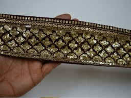 Maroon Embroidered Trimmings Ribbon Indian Sari Border gold Velvet Fabric Trim By The Yard Laces and Trims Indian Embroidery Exclusive Trims For  Dresses