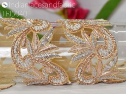 Decorative Silver Gold Trim Handcrafted Indian Trim Indian Saree Border Trim Laces Embroidered Trim by the Yar..