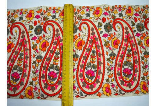 11'' Wholesale Trimmings Indian Sari Border Crafting Sewing Indian Laces and Trims Embroidered Saree Border Fabric Trim By The Yard